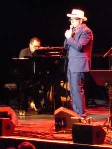Elvis Costello, Royal Albert Hall 2014, with Steve Nieve