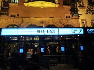 Yo La Tengo, Shepherd's Bush Empire, October 2015, theatre sign