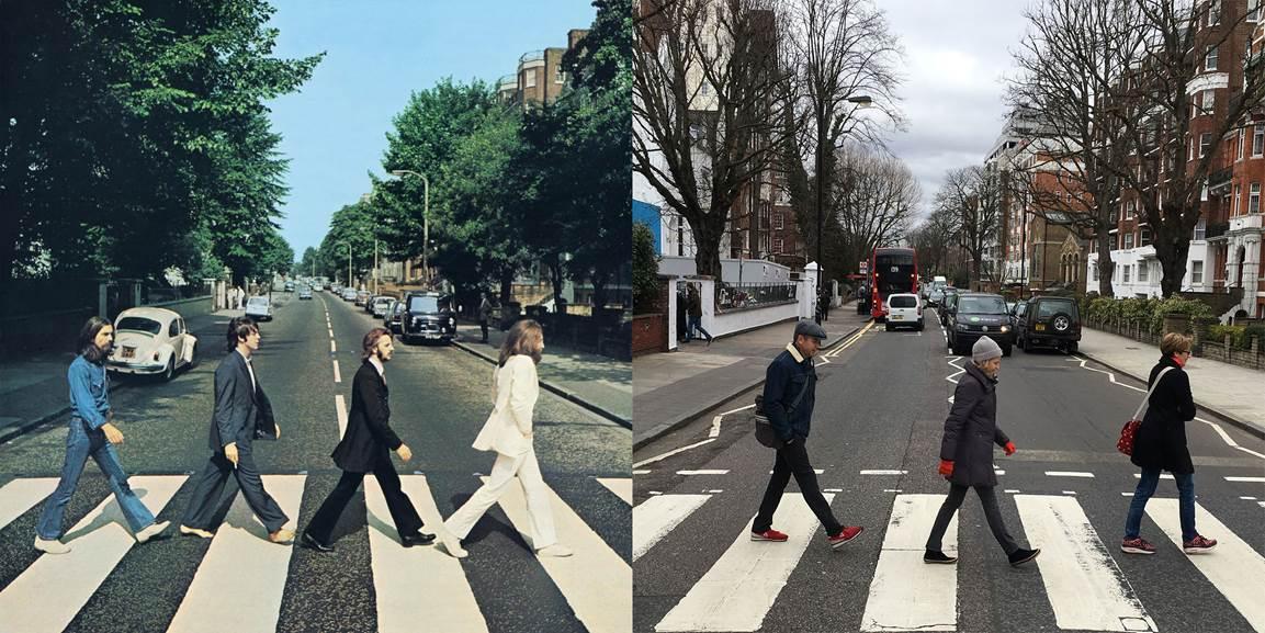 Abbey road, zebras